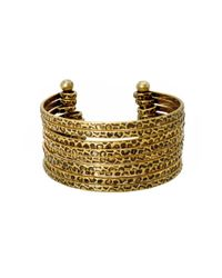 BCBGeneration | Metallic Textured Open Cuff Bracelet | Lyst