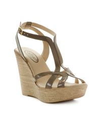 Callisto | Natural Monaco Wedge Sandals | Lyst