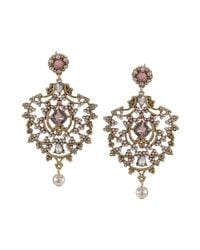 Carolee | Pink Ornate Chandelier Earrings | Lyst