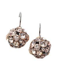Fossil - Metallic Blushing Bling Ball Earrings - Lyst