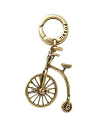Fossil - Metallic Brass Tone Vintage Bicycle Charm with Spinning Wheel - Lyst