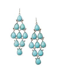 Fossil - Blue Turquoise Resin Chandelier Earrings - Lyst