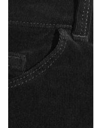J Brand - Black Lovestory Low-rise Stretch-corduroy Flared Jeans - Lyst