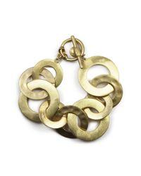 Jones New York | Metallic Goldtone Interlocking Circles | Lyst