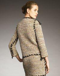 Lanvin | Multicolor Ribbon-trim Tweed Blazer | Lyst