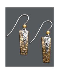 MIA | Metallic Rectangle Drop Earrings | Lyst