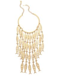 Tory Burch - Metallic Fish Necklace - Lyst