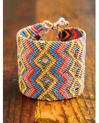 Free People | Multicolor Vintage Extra Wide Woven Friendship Bracelet | Lyst