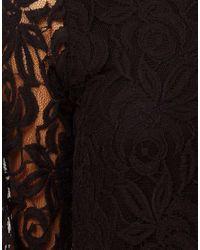 John Zack | Black Lace Swing Babydoll Dress | Lyst