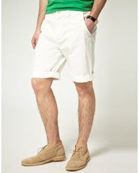 Scotch & Soda | White Scotch Soda Cotton Twill Chino Shorts for Men | Lyst
