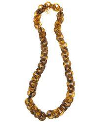 Tory Burch - Metallic Octagon Resin Necklace - Lyst
