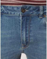 ASOS - Blue Asos Skinny Denim Shorts for Men - Lyst