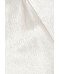Donna Karan | White Hammered Stretch-satin Maxi Skirt | Lyst