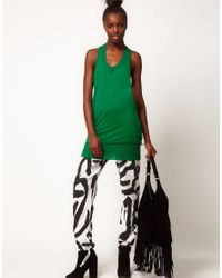 Silent - Damir Doma - Green Silent Damir Doma Jersey Vest Double Layer - Lyst