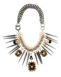 ASOS | Metallic Statement Tusk Bib Necklace | Lyst