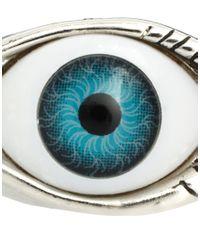 ASOS - Metallic Asos Eye Ring - Lyst