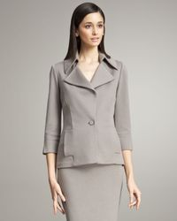 Buchanan & Zavala - Gray Ponte Knit Jacket - Lyst