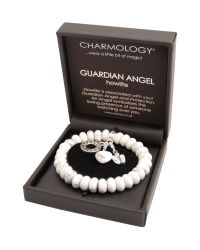 Charmology - White Charmology Guardian Angel Bead Bracelet with 3 - Lyst