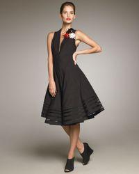 Donna Karan - Black Swingy Dress - Lyst
