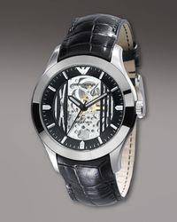 Emporio Armani | Meccanico Automatic Watch, Black for Men | Lyst