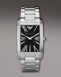 Emporio Armani | Metallic Super Slim Watch for Men | Lyst