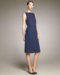 Jil Sander | Blue V Front/back Wrap Dress | Lyst