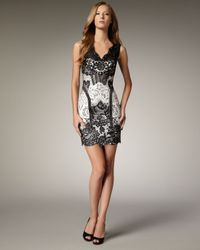 Mandalay | Black Lace Two-tone Dress | Lyst