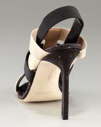Manolo Blahnik - Black Orina Cork-bottom Sandal - Lyst