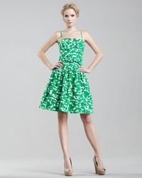 MILLY | Green Sarah Drop-skirt Dress | Lyst