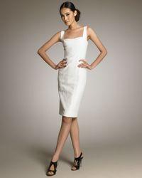 Narciso Rodriguez | White Sleeveless Sheath Dress | Lyst