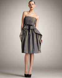 Robert Rodriguez | Metallic Gracie Strapless Dress | Lyst