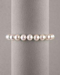 Assael | White Pearl Bracelet | Lyst