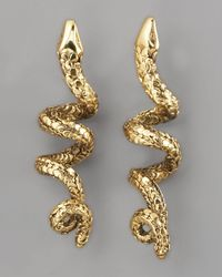 Aurelie Bidermann | Metallic Coiled Snake Earrings | Lyst