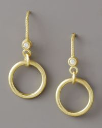 Dominique Cohen | Metallic Ring-drop Diamond Earrings | Lyst