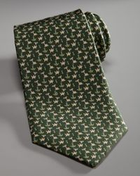 Ferragamo - Green Camel & Cactus Tie for Men - Lyst