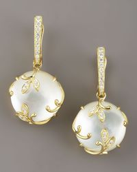 Frederic Sage | Metallic Mother-of-pearl Vine Earrings | Lyst