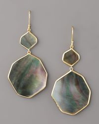 Ippolita - Black Irregular-drop Shell Earrings - Lyst