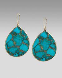 Ippolita | Blue Extra-large Teardrop Earrings, Bronze Turquoise | Lyst