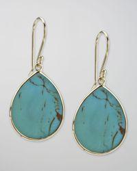 Ippolita   Metallic Turquoise Slice Earrings   Lyst