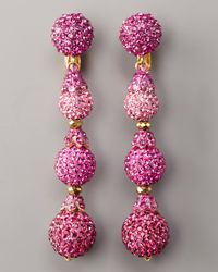 Jose & Maria Barrera | Pave Drop Earrings, Hot Pink | Lyst