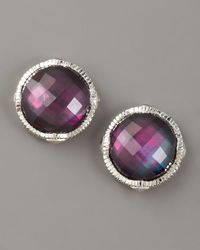 Judith Ripka | Pink Corundum Doublet Stud Earrings | Lyst