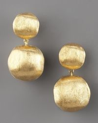 Marco Bicego | Metallic Brushed Gold Drop Earrings | Lyst