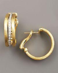 Marco Bicego | Metallic Jaipur Gold & Diamond Hoop Earrings | Lyst