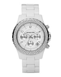 Michael Kors | White Ceramic Glitz Watch | Lyst