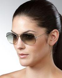 Ray-Ban | Black Aviator Sunglasses Silver | Lyst