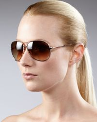 Tom Ford | Metallic Classic Aviator Sunglasses, Rose Gold | Lyst