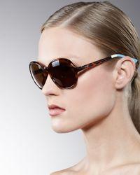 TOMS | Black Classic 201 Round Sunglasses, Tortoise | Lyst