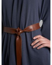 Wal-G - Gray Belted Drape Top - Lyst