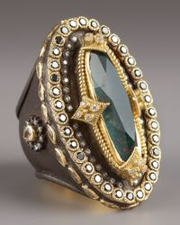 Armenta | Metallic Heraldica Oval Bloodstone Ring | Lyst