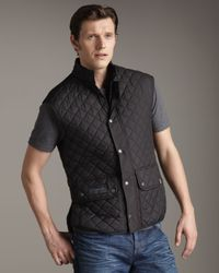 Belstaff | Black Body Warmer Vest for Men | Lyst